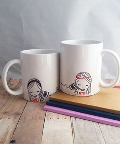 This mug is the perfect gift for two friends that are separated by distance. Every time you use it you will think of your best friend :)