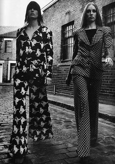 Pants suits, BIBA, 1970s