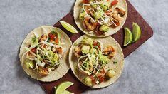 Grilled Shrimp Tacos with Honeydew Sriracha Salsa