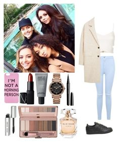 """Sans titre #256"" by rosemie ❤ liked on Polyvore featuring NARS Cosmetics, MAKE UP FOR EVER, Michael Kors, Miss Selfridge, Bobbi Brown Cosmetics, Topshop, adidas, MANGO, Elie Saab and Marc Jacobs"