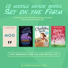 A list of a dozen middle grade books that are set on the farm | Created by CJ and Elza from #MGCarousel for #MGBookVillage | #mglit #IReadMG #kidlit #booklist #bookblog #middlegradebooks