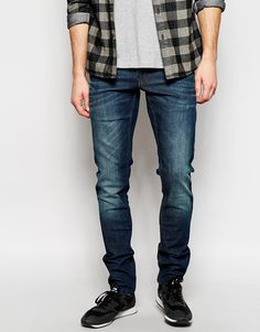 Solid Jeans With Blasting In Skinny Fit