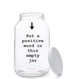 Positive Words, Fashion News, Jar, Positivity, Writing, Jars, Being A Writer, Glass, Letter