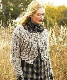 Knit a chunky shrug: free pattern :: allaboutyou.com