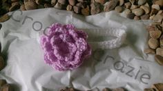 Girls Crochet Large Flower Headband by crochetcraziehand on Etsy