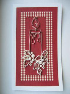 OOAK Christmas Greeting Card Paper Art Christmas by RudiBelArt