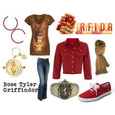 """Rose Tyler, Griffindor"" by doctorwhodressing on Polyvore"