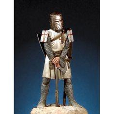 Templar Order Knight, 1270-1291 - Art Girona White Metal Figures