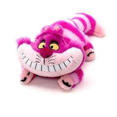 Haz reír a todo el mundo con esta famosa sonrisa burlona. Este personaje del clásico Alicia en el País de las Maravillas tiene un pelo mullido, garras de fieltro y una barriga blandita rellena de bolitas.