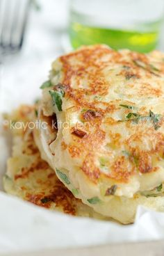 Feta, Scallion and potato cakes.