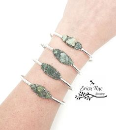 Raw emerald gemstone bangle