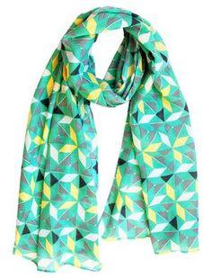 Scarf / Sarong - Geometric green Fox, Green, Summer, Accessories, Collection, Fashion, Moda, Summer Time, Fashion Styles