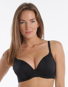 Fever Underwired Plunge Bikini Top - Black