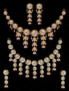 Pearl neclace set by Kailash Kumar on Ancient Jewelry, Fashion Beauty, Asia, Indian, Jewellery, Pearls, Ring, Antiques, Gold