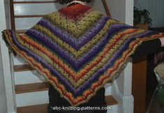 ABC Knitting Patterns - Noro Sock Yarn Lace Shawl