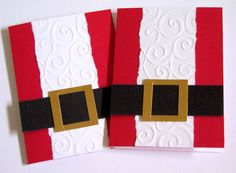 Santa Gift Card Holder Set of 2. $5.50, via Etsy.