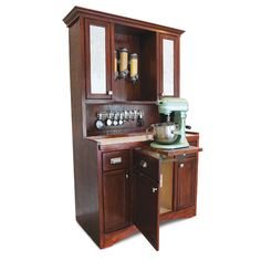 Hoosier Cabinet Plans – DIY Steal an idea from Grandma's kitchen: Use these Hoosier cabinet plans to build a free-standing kitchen cabinet that organizes all your baking needs within arm's reach. - Own Kitchen Pantry Free Standing Kitchen Cabinets, Outdoor Kitchen Cabinets, Kitchen Furniture, Diy Furniture, Kitchen Cupboards, Cabinet Hoosier, Cabinet Plans, Unfitted Kitchen, Kitchen Queen