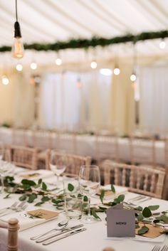 Greenery Foliage Table Runner Decor Industrial Glam Marquee Wedding http://www.stottandatkinson.com/