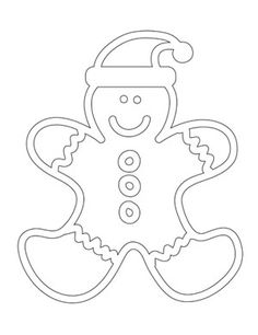 Gingerbread Man Coloring Sheet from PrintableTreats.com