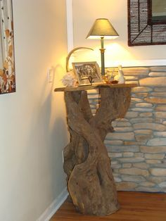 driftwood table.