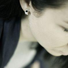 Little cube post earrings
