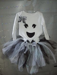 Spooktacular Ghost Tutu Halloween Outfit or Costume by CuteyPatoot