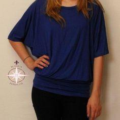 3-4-sleeve-dolman-tops-s-xxxl-various-colors-1