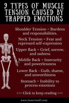 9 Types of Muscle Tension Caused by Trapped Emotions Do you struggle with chronic pain, fibromyalgia or constant anxiety and stress? Here is what your pain means. Health And Nutrition, Health And Wellness, Health Tips, Health Fitness, Stress And Health, Mental Health Help, Nutrition Education, Health Care, Sei He Ki