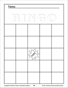 Play alphabet bingo with this fun bingo template. Use any number of our collection of letter teaching reproducibles and create a fun game for the entire classroom. Reading Activities, Preschool Activities, Printable Worksheets, Printables, Alphabet Bingo, Blank Bingo Cards, Bingo Template, Free Teaching Resources, Toddler Crafts