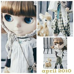 "Retrospective: In June I celebrate 11 years creating for Blythe.  I decided to look through my archive for my favorites outfits. This is ""Follow me, deer."" From April 2010.  #blythe #outfit #ihavewings #11anniversary 