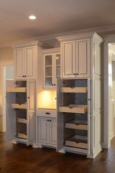 kitchen pantry cabinets Built In Pantry Design Ideas, Pictures, Remodel, and Decor - page 11 Custom Kitchen Remodel, Pantry Design, Modern Kitchen Remodel, Home Kitchens, Home Remodeling, Kitchen Remodel Small, Home, Kitchen Remodeling Projects, Kitchen Pantry Design
