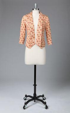 vintage print blazer