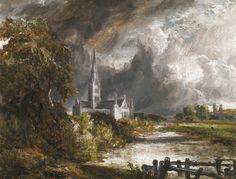 Salisbury cathedral from the meadows, John Constable.