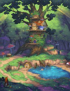 Forest Kingdom by Flipsi.deviantart.com on @deviantART