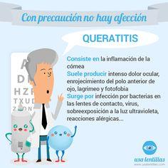 Queratitis.  https://www.facebook.com/usalentillas/photos/a.427206964039274.1073741828.413938582032779/756647127761921/?type=1