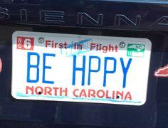 Be Happy Funny License Plates, Vanity License Plates, Licence Plates, License Plate Art, Vanity Plate, Driving Tips, Jeep Cars, Vroom Vroom, Jeep Wrangler