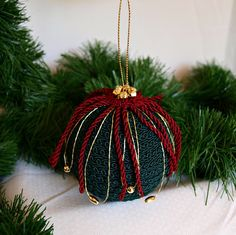 Braided Rope Ornament by NancysWorkshop on Etsy, $10.00