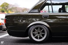 Toyota corolla KE70 #Toyota #OldSchool #Slammed #Watanabe