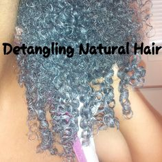 How To Detangle Matted Natural Hair w/Knots | Great Tips