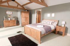 Wall colour  Oakdale Solid Oak Furniture Range Oak Bedroom Furniture Collection Oak Furniture Land www.oakfurnitureland.co.uk