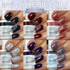 Gelish The Big Chill Collection Swatches & Color Comparisons