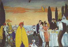 "Festival at San Sebastian, 1921 Salvador Dali ""Fete de l'hermitage de San Sebastián"""