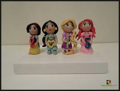 Disney princess chibis - polymer clay