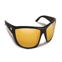 Flying Fisherman Buchanan Black w/Yellow Amber Sunglasses