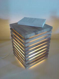 Balkenbett eigenbau  Originelle Lampe aus Holzspateln | Lamp shades | Pinterest ...