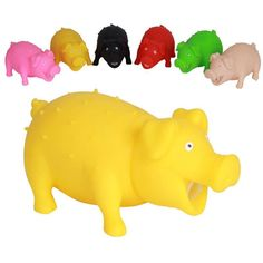 New Color Random Mini pig Novelty Screaming Vent Pig Toy Squeaker Chew Gags & Practical Jokes Stress Reliever Toys for Children