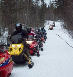 Snowmobiling in Wisconsin!