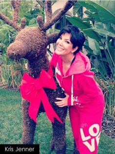 Kris Jenner Rocking Peace Love Worlds I Am Love Berry Hoodie