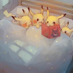 They're so adorable! I love pokemon fan art, e… Sleepy nighttime pikachu drawing! They're so adorable! I love pokemon fan art, especially when it's a cute scene like this! Pokemon Fan Art, Pokemon Memes, All Pokemon, Draw Pokemon, Pokemon Especial, Images Kawaii, Pokemon Mignon, Pikachu Drawing, Cute Pikachu
