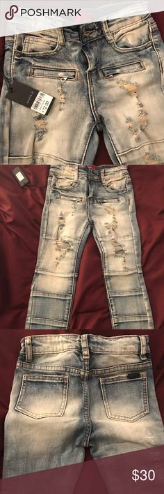 Boys Brand New Haus of Jr Forest Jeans NWT boys Haus of Jr Forest distressed jeans. Jeans are a size 6t, but fit like a 5t. Haus of JR Bottoms Jeans